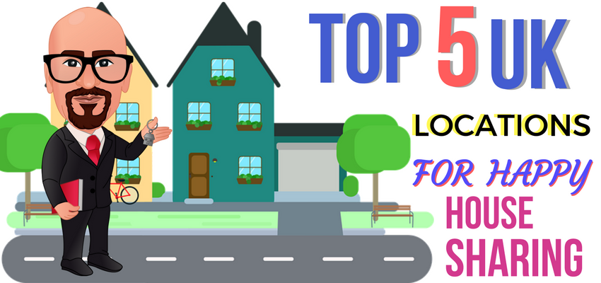 top 5 uk locations for happy house sharing